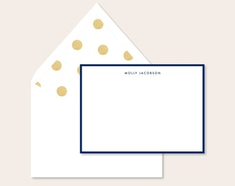Personalized Stationery - Gold Foil lined envelope