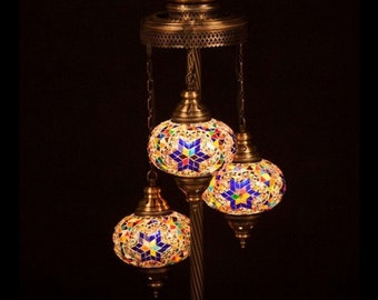 Turkish Mosaic Lamps,moroccan Lamps,floor Lamps,unique Light  Fixture,standing Lamp