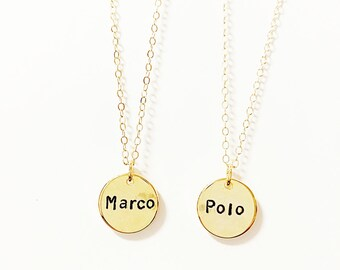 Friendship Necklace Set // Marco Polo Necklaces // Sisters // Soul Sisters // Necklace Set // Love Jewelry // Matching Necklaces // Friends
