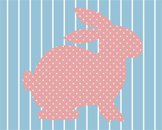Full house bunny wallpaper print