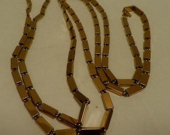 Xtra Long Gold Necklace, vintage MONET