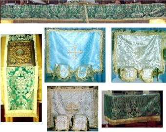 Altar Cloths Eastern Orthodox Byzantine Church Styling Made to Order!