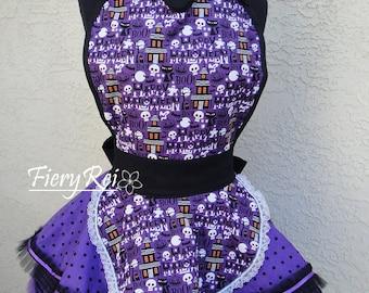 Purple and Black Halloween Apron Cosplay