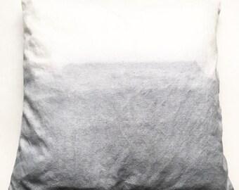 Gray Dip Dye Throw Pillow Sham