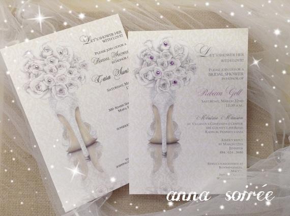Bridal shower invitations shoe theme bridal shower bridal filmwisefo
