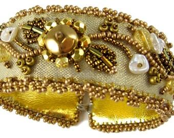 Gold Rush Bead Embroidery Bracelet Kit by Ann Benson