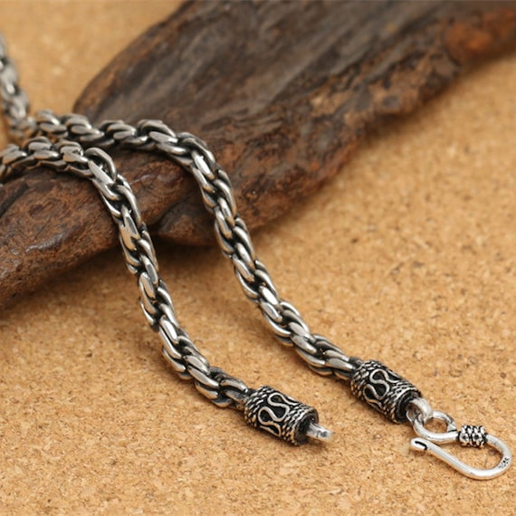 rope chain steel il twisted necklace stainless mens chains market etsy cnrl womens twist