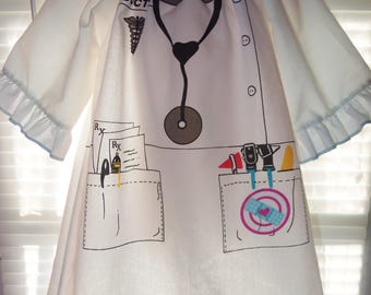 Halloween costume  Doctor   Girl   Dress Size 3t 21in length