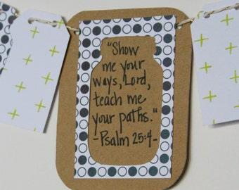 Psalm 25:4 Mini Scripture Bunting