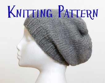 Knitting patterndiy instructions slouch beanie hat children instant download pdf knitting pattern slouchy beanie hat knitting pattern slouch hat instructions diy knit hat dt1010fo