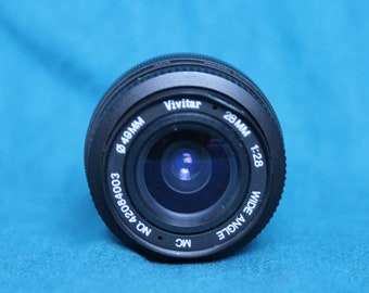 Vivitar Lens 28mm F2.8 with canon fd mount