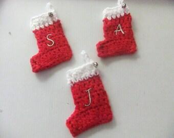 PERSONALIZED MINI Christmas Stocking/Handmade Ornament/Xmas Stocking