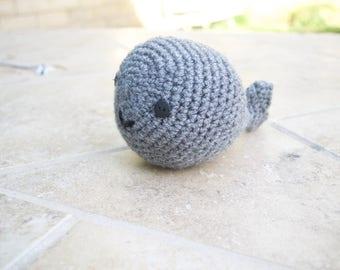 Crochet Gray Whale Plush