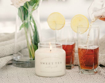 Sweet Tea Soy Candle | 16 oz. Soy Candle | Southern Inspired Candles | Charleston Candle Co.