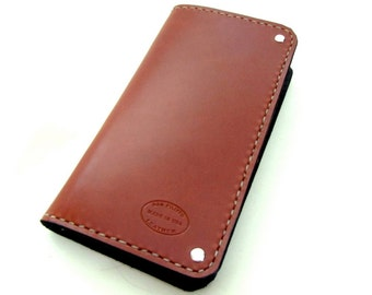 Mens Leather Wallet Whiskey Brown Custom Leather Long Wallet Mens Billfold Mens Gift Mens Fashion Minimalist Wallet Can Be Personalized