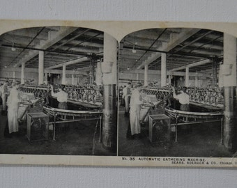 Antique Stereograph Stereoview Photo Photograph Picture Industrial Sears Roebuck Chicago