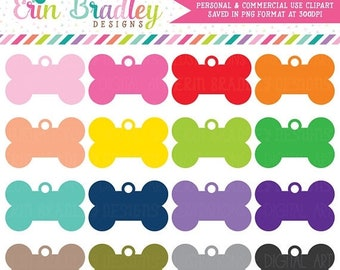 80% OFF SALE Dog Tag Clip Art Graphics Personal & Commercial Use Clipart Great for Planners