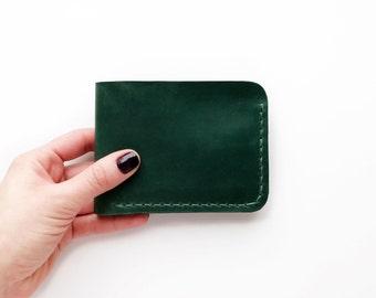 Bifold wallet, mens wallet, leather billfold, leather wallet purse, small leather wallet, womens wallet, pocket wallet, handmade wallet