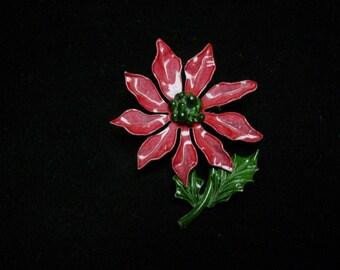 Christmas Brooch Poinsettia
