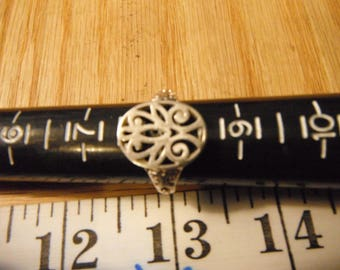 Sterling Silver Filigree Ring, Size 8   {G}