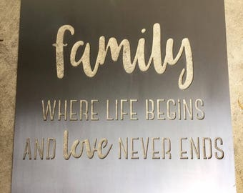 Family Quote   Metal Wall Art Quote