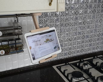 Kitchen tablet holder, Ipad holder for kitchen, samsung, book of recipes, best gift, gift for her