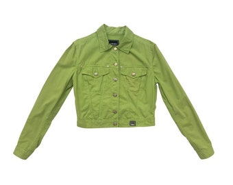 VERSACE JEANS COUTURE vintage green denim jacket, size small