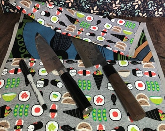Medium Knife and Tool Roll - Sushi and friends