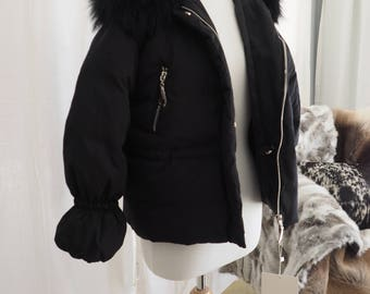 Wonderful Down Filled Parka - Classic Black Mangut Fur Trimmed  - Beat those Winter Chills - Available made to order