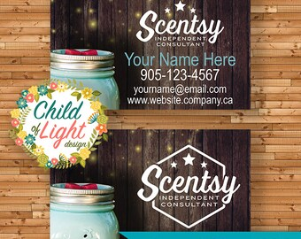Business card etsy authorized scentsy vendor business cards custom business card chasing fireflies personalized cards print your own reheart Choice Image