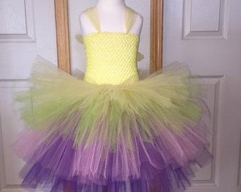 Easter Tutu/Spring Tutu/Yellow Apple Green Pink & Purple Tutu/Pastel Tutu