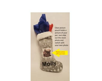 Personalized Pet Stocking-Picture Holder With Name