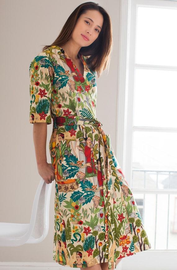 Kimono Robe. Cotton Kimono Robe. Dressing Gown. Kimono.