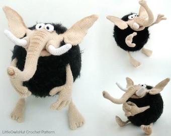 078 Mammoth Mo - Crochet Pattern PDF file Amigurumi by Borisenko Etsy