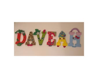 Custom hand painted wood letters charactors, themes and so much more!