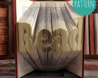 Folded Book Art Read Pattern & tutorial, gift, decoration
