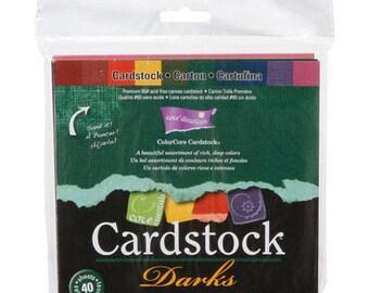 Core Essentials  Cardstock Paper Pack  Darks - 6 x 6  - 40 sheets Core Color Sandable