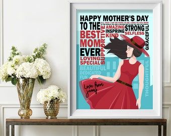 Happy Mother's Day Gift, Birthday Gift for Mom