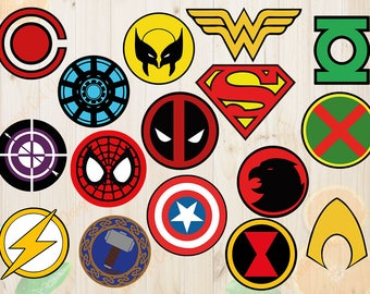 Super Heros Logos Svg, Super Heros Logos Cutfiles Dxf, Eps & Png Cutfiles, Heros Logo vectors for Cricut, Silhouette cameo, Super Hero svg