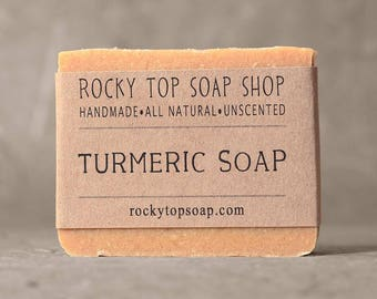 Turmeric Soap -  Artisan Soap, Facial Soap, Herbal Soap, Cold Process Soap, Vegan Soap