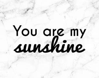 You are my sunshine decal, Sunshine decal, Sun stickers, sunshine stickers, hello sunshine decal