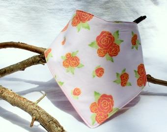 Rose Bandana Bib - Size 2
