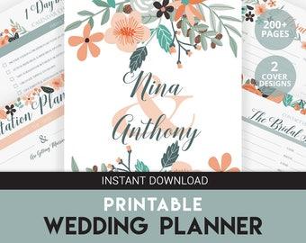 Wedding Binder | DIY Wedding Planner | Wedding Planner | Engagement Gift | Wedding Budget | Printable Wedding