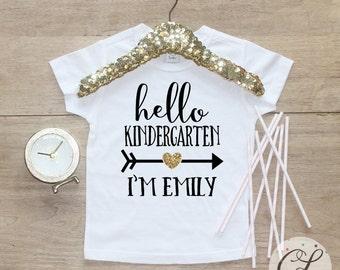 Back to School Shirt / Kindergarten Cutie Shirt 1st Day of School Shirt Preschool Tee Pre-K Class Outfit T-Shirt First Personalized 107