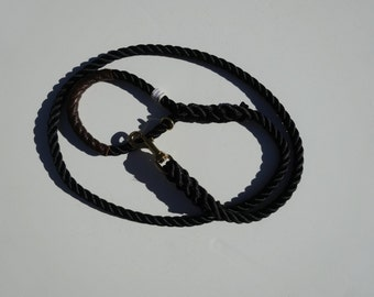 "Nautical Dog Leashes - The Fair Lead ""Classic"" (Black)"