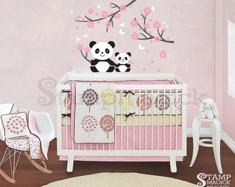 Panda Wall Decal For Baby Nursery