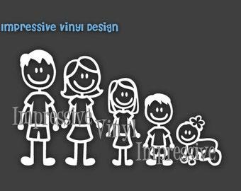 Vinyl Decal Basic Stick Family Custom  Sticker Car Vehicle