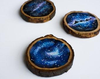 Galaxy Art Wood Painting, Space Art, Milky Way Painting, Original Art, Space Painting, Nature Art, Mini Art, Wood Panel Art, Abstract Art