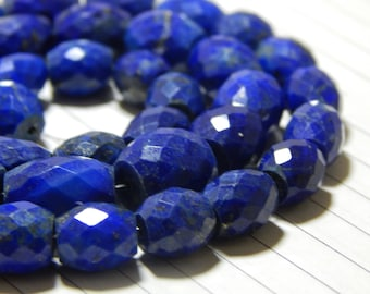 70%OFF Lapis Lazuli Tube Beads Faceted Tube Shape 100 Percent Natural Gemstone Size 7.3x10.5 mm Approx  - 0177