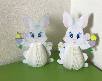 Vintage Honeycomb Easter Bunny decorations